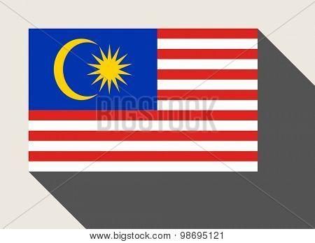 Malaysia flag in flat web design style.