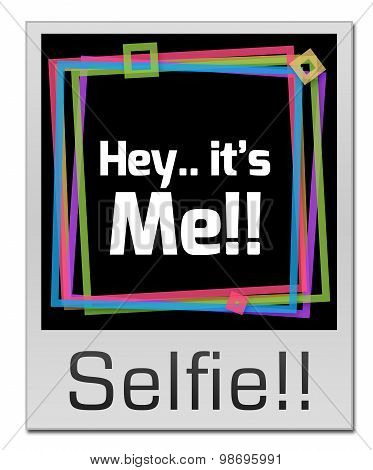 Selfie Colorful Frame