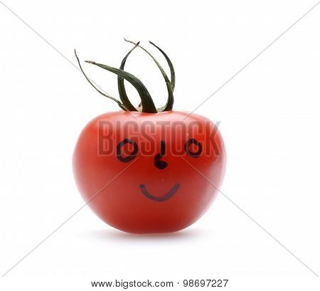 Tomato With Self Painted Face