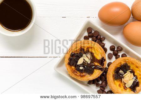 Egg Tart Background / Egg Tart / Homemade Egg Tart Background