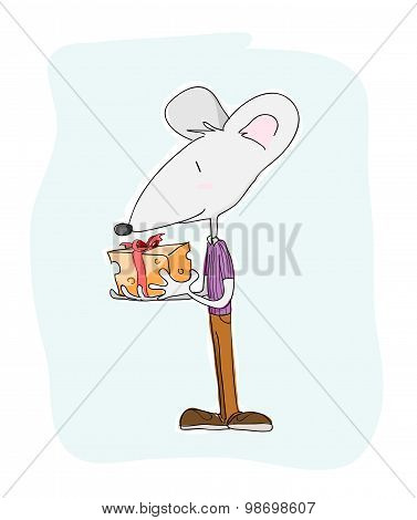 Mouse With A Present