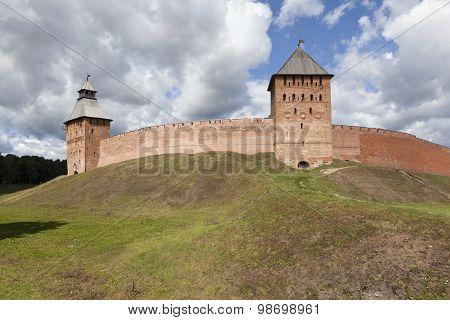 Novgorod Kremlin. Palace and Spasskaya Tower. Velikiy Novgorod.
