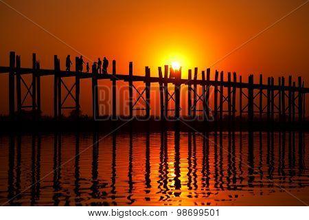 U Bein Bridge, Mandalay, Myanmar