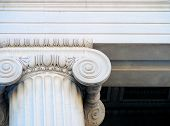 Ionic Column, Architectural Detail poster