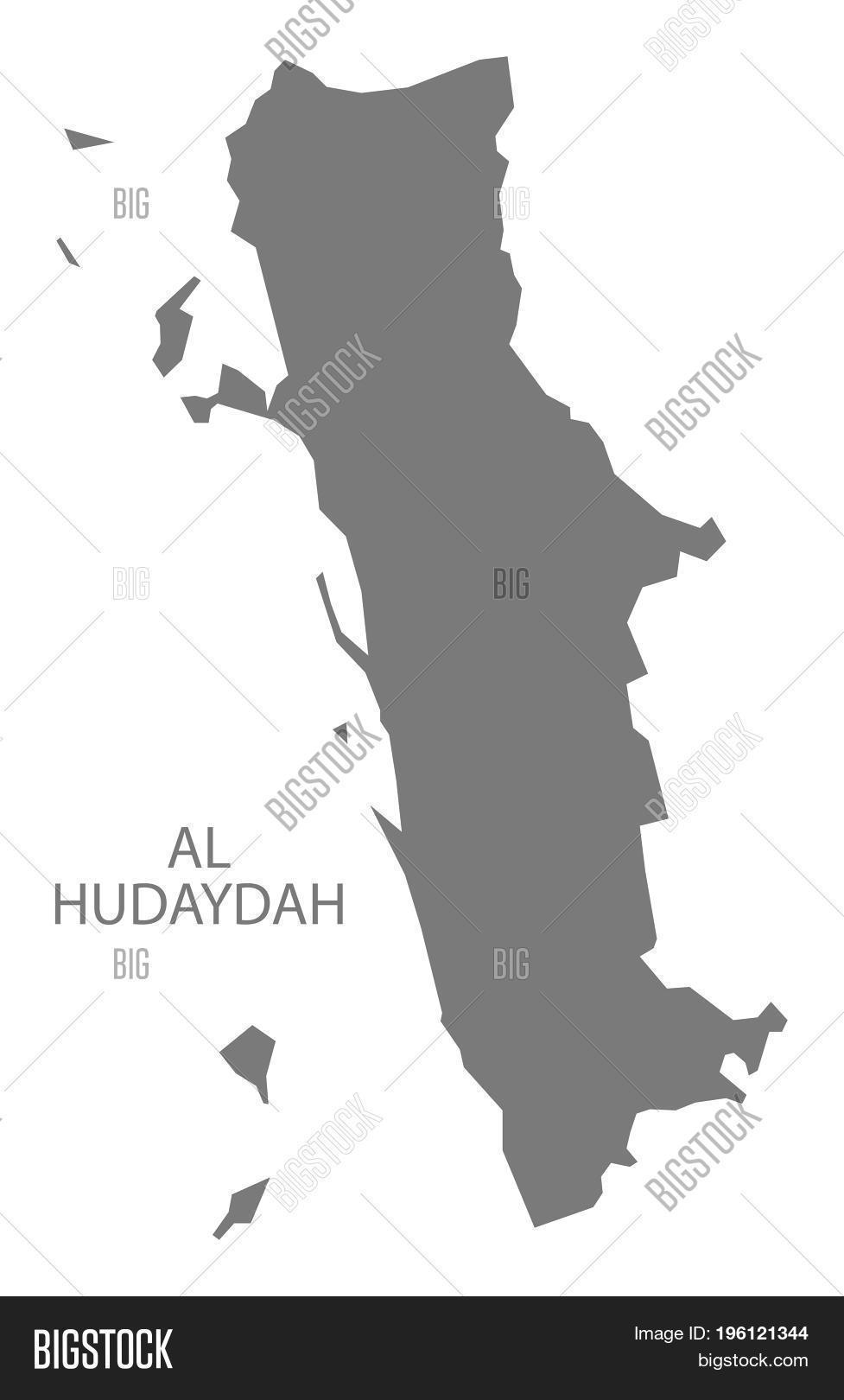 Al Hudaydah Yemen Governorate Map Image Photo Bigstock