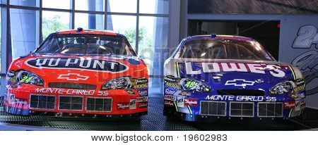 Jeff Gordon e Jimmy Johnson nascar chevy carros de corrida
