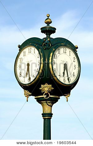 old fashioned vintage outdoor clock