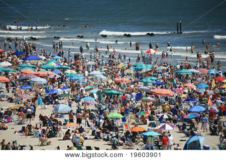 ATLANTIC CITY, NJ - Sunbathers in Atlantic city, NJ, where treated to the 6 annual Thunder on the Boardwalk air show. Approximately 500,000 people attended the Atlantic City, air show. August 20,2008