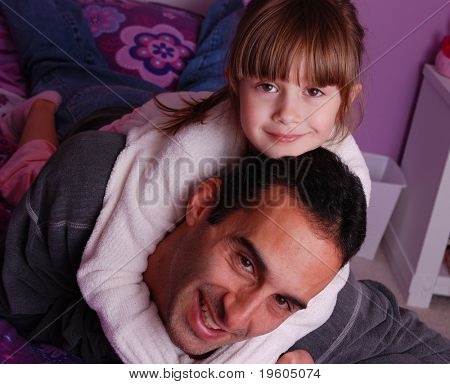 A father and daughter spending time together