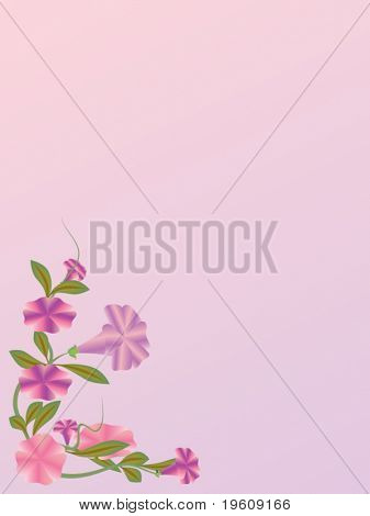 Floral background. Vector.