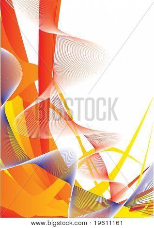 Abstrakt. Farbige Linien