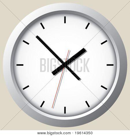 Relógio de parede. Vector.