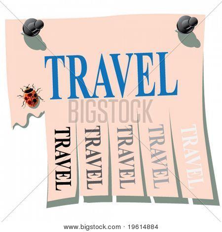 Sticker. Travel.