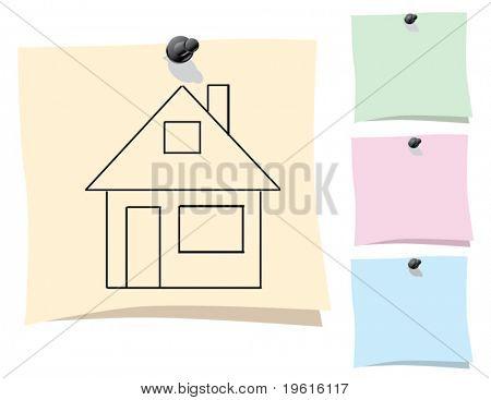 Sticker. House.
