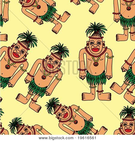 Seamless background. People. Vector illustration.