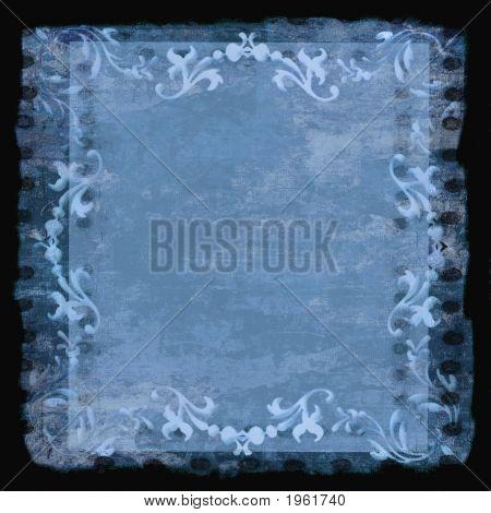Cenefa marco Grunge azul