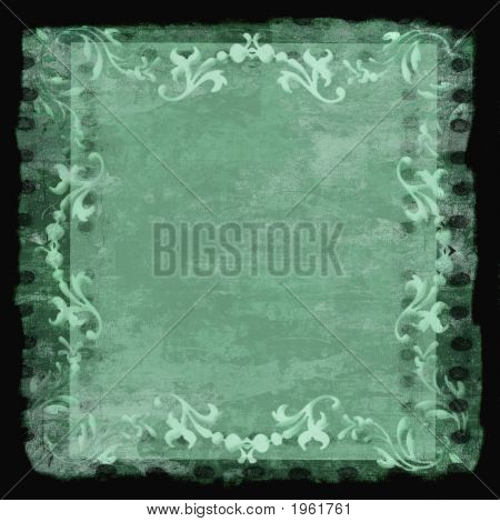 Decorative Border Frame Grunge Green