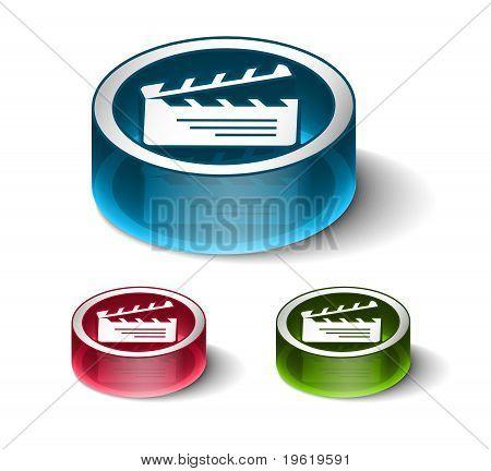 3D Glossy Radio Web Icon