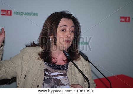 Speaker at a political meeting 12