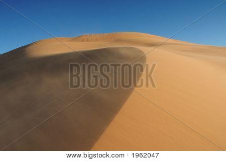 Sandstorm In Erg Chebbi Sand Dunes