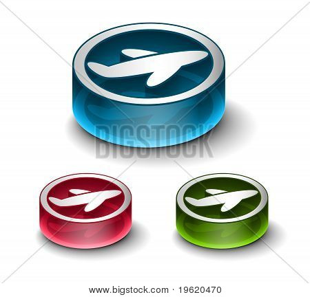 3D Glossy Travel Web Icon