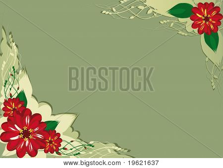 Background With Angular Floral Elements