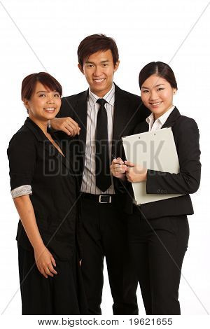 Team Of Young Business Executives