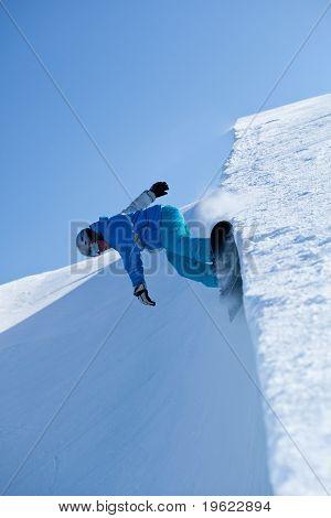 Snowboarding Half Pipe