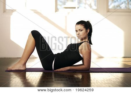 Young woman in the gym