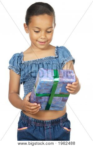 Girl Giving A Gift