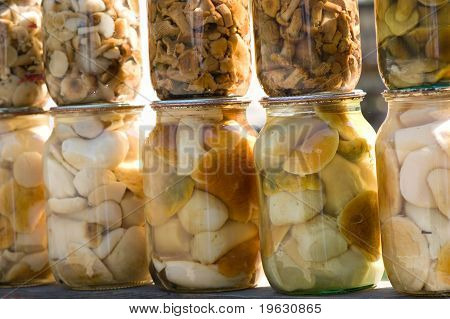 Homemade Canned Mushrooms