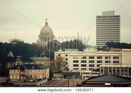 Jackson, Mississippi - Vintage Panorama