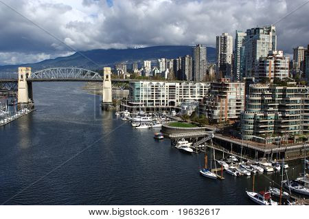 Vancouver Skyline and Burrard Bridge