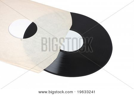 original stryle record in blank white sleeve on white background