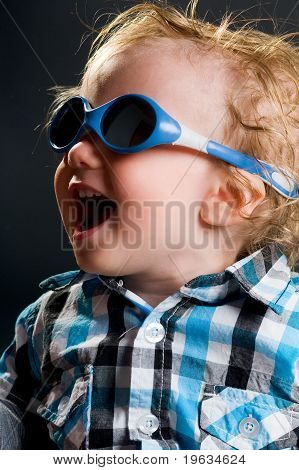 Cool Boy With Sunglasses