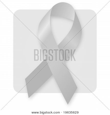 Awareness Ribbon - Silver Grey