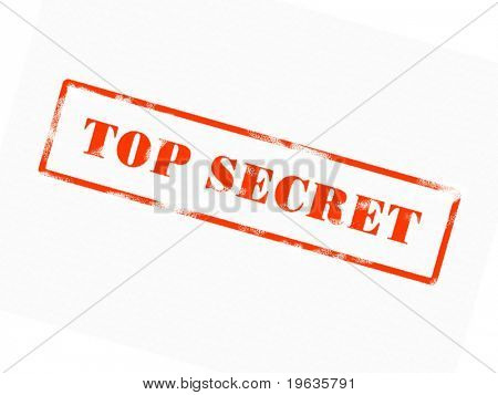 TOP SECRET-Stempel (rote Tinte)