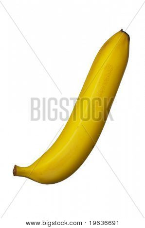 Banana (isolated on white background)