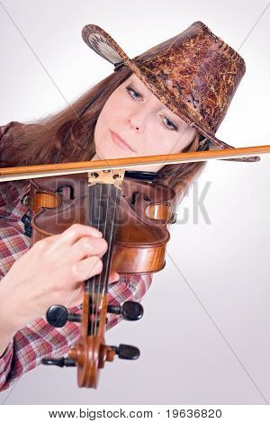 woman plays the viola