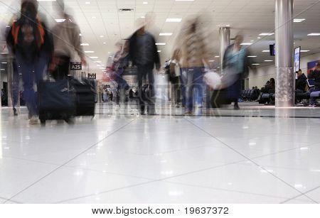 Tema de movimiento de personas de aeropuerto