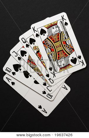 king and aces cards poker what wins