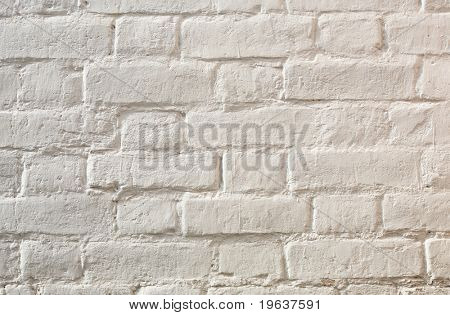 White brick wall texture (see also ID: 8425501)