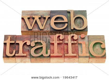 Web Traffic In Letterpress Type