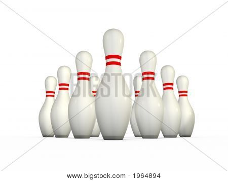 Ten Isolated Bowling Pins