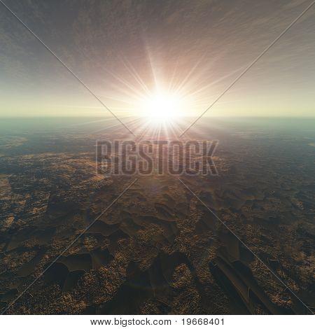 Cracked Earth Horizon Background
