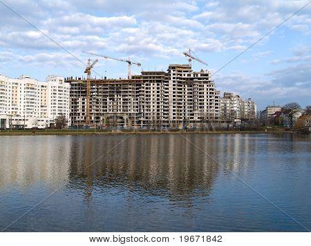 Local de construção do novo edifício de apartamentos