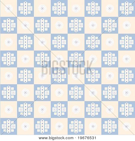 Flower Square Seamless Texture
