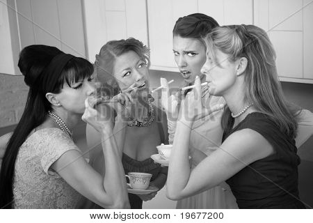 Four Women Smoking