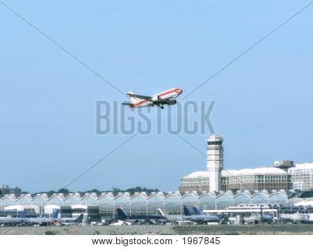 Jet Plane In Flight - Take Off From Airport 6