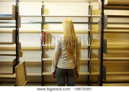 Empty Book Shelves
